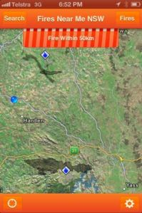 Fires Near Me app, January 2013